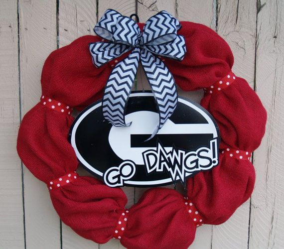 Hey, I found this really awesome Etsy listing at https://www.etsy.com/listing/162076751/georgia-bulldog-collegiate-burlap-wreath