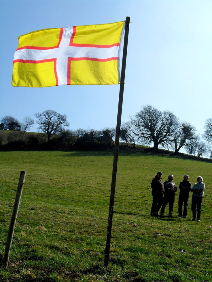 The Dorset county flag. The Dorset Cross, aka St Wite's Cross