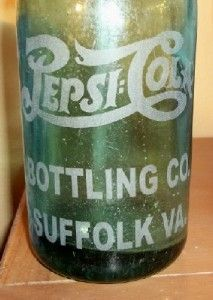 pepsi cola plant suffolk, va | Details about PEPSI COLA BOTTLING COMPANY SUFFOLK VIRGINIA GLASS ...