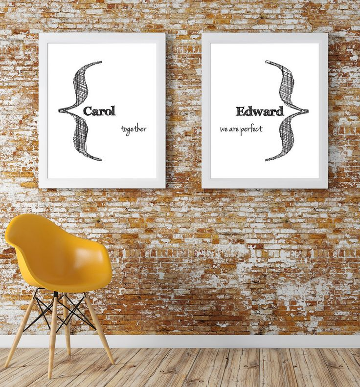'Together' Print (Custom). Home decor. Bedroom decor. Wall prints. Wall art. Love art. Love print. Custom Anniversary gift. Because I love you gift. Custom prints. Custom art. Custom wedding gift.
