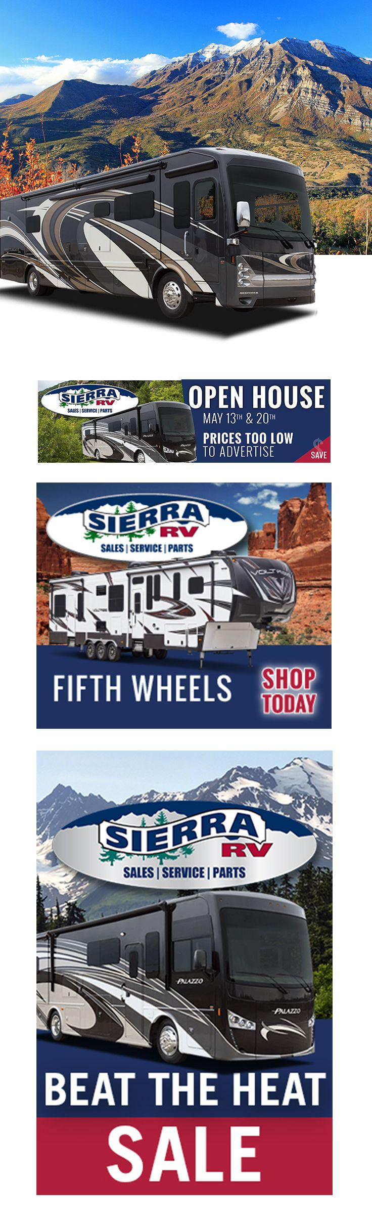 Digital ad design for Sierra RV by Epic Marketing. #digitalads #digitaladvertising #rvs #marketing #epicmarketing