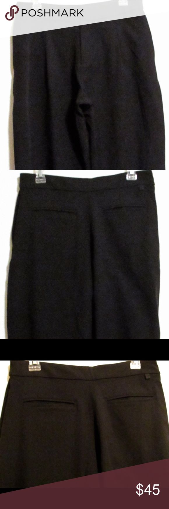 """Lululemon Black Dress Cropped Trousers Size 8 Rare find!  Lululemon dress trousers. Material is 93% nylon, 6% spandex, 1% polyester.  Measurements lying flat are waist 15.5"""", hips 21"""", rise 11.5"""", inseam 26.25"""".  No tips tears or stains. Features cuffed hems, side and back pockets, front zip fly, waist band without belt loops, and front pleats. lululemon athletica Pants Ankle & Cropped"""