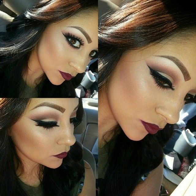 @makeupby_krystal #fall #makeup #ShareIG Mac's Diva Lipstick Paired with Vino Lip Liner