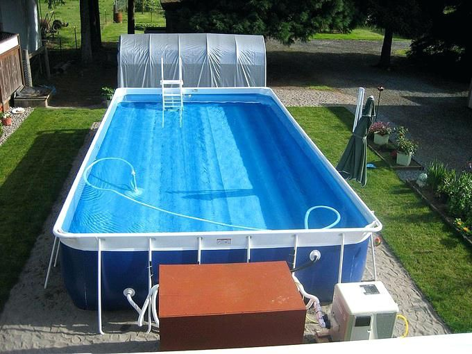 Costco Swimming Pool Rectangular Above Ground Lap Pool With Ladder Steps And Pool Pump Costc Above Ground Pool Pumps Above Ground Swimming Pools Swimming Pools