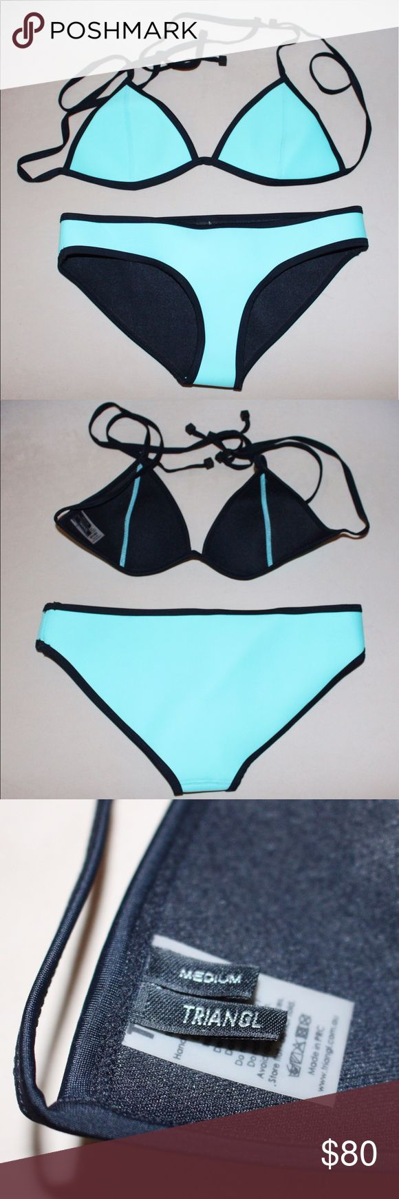 Triangl Mint Bikini This authentic Triangl mint bikini is the perfect addition to any summer beach day! The bathing suit does not have tags but has never been worn and is in mint condition. The top is a size Medium and the bottom is a size Small. triangl swimwear Swim Bikinis
