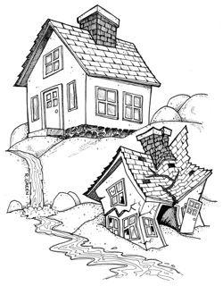 Huis gebouwd op een rots, huis gebouwd op het zand