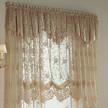 Jcp Home Shari Lace Rod Pocket Balloon Shade Jcpenney Shabby Chic In 2019 Burlap Curtains