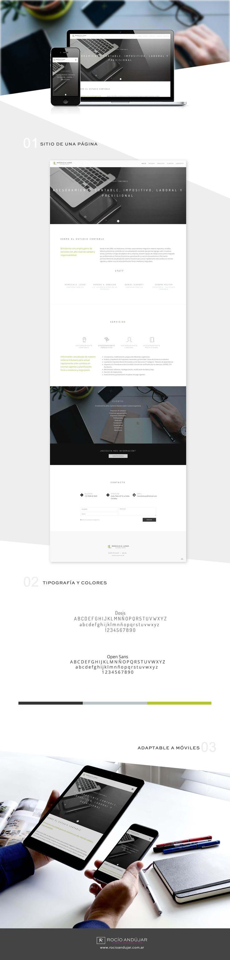 Portfolio: Presentación del sitio web de Estudio Contable Lusso