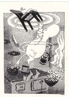 Moomintroll - Tove Jansson. Moomintroll series were my favourite childhood books. I hope to pass the love of these books on to my kids.
