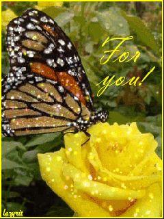 Крапивница на цветке! - анимация на телефон №854920