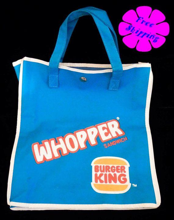 Burger King tote bag!  https://www.etsy.com/listing/188732672/1982-burger-king-whopper-sandwich-tote