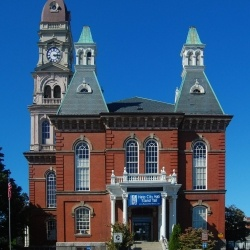 Second Empire style  Gloucester City Hall is a historic city hall at Dale Avenue in Gloucester, Massachusetts. It was built in 1869-1871 and added to the National Register of Historic Places in 1973.