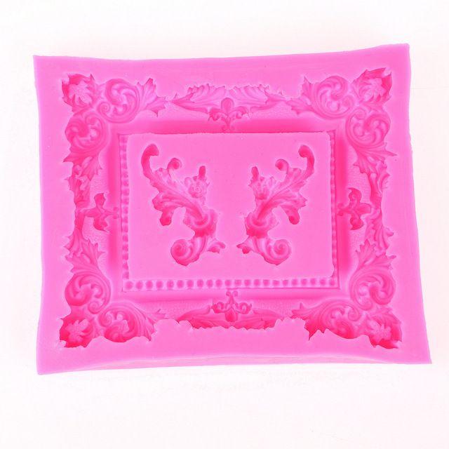 3d großen retro spiegelrahmen schokolade party kuchen dekorieren tools diy backen fondant silikonform f0424