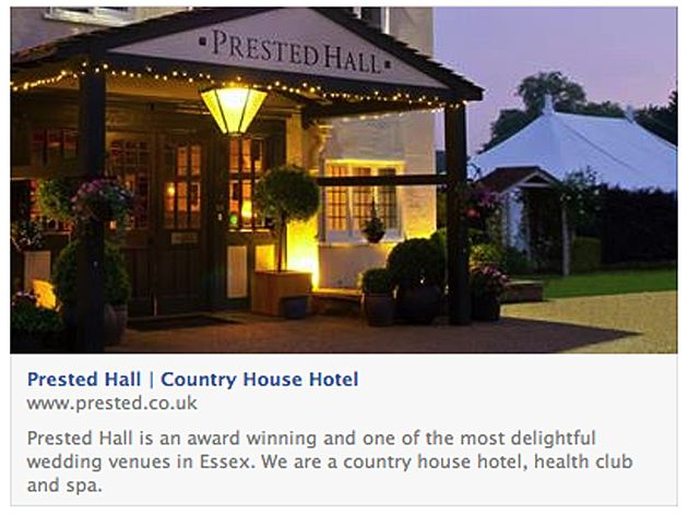 What's on at Prested Hall?? @Jeannie Sieck Hall  #EssexVenues Well, actually, there's quite a lot coming up, and we would love to see you!  Sunday lunch - 2nd February Wedding open day - Sunday 9th February Valentine's dinner - Friday 14th February Sunday lunch - 16th February Viewing evening - Thursday 20th March Sarah-Jane Morris performs - Friday 4th April Prested Hall wedding fair - Sunday 13th April Tel:  01376 573300 website www.prested.co.uk for further information and bookings.