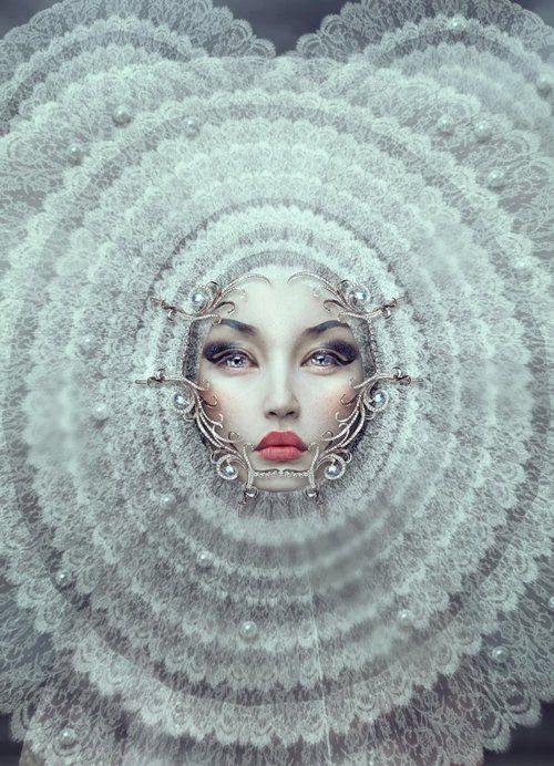 This is so pretty.Digitalart, Woman Fashion, Inspiration, Beautiful Editorial, White Queens, Natalie Pretentious, Digital Art, Mirrors Mirrors, Snow Queens