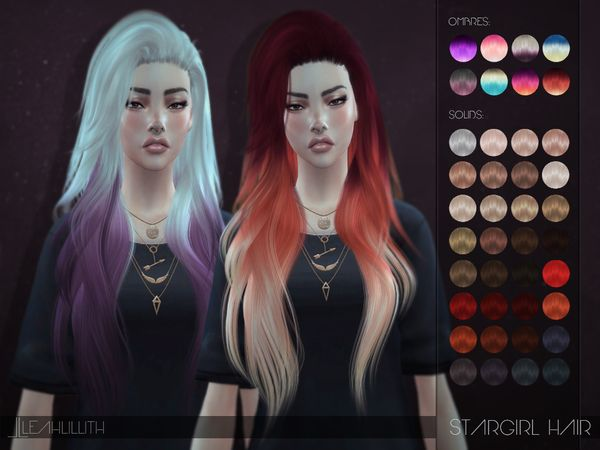 The Sims Resource: LeahLillith Stargirl Hairstyle • Sims 4 Downloads