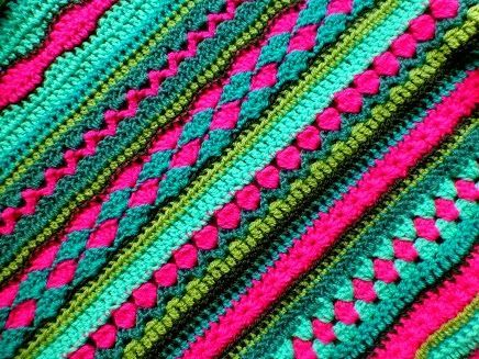 Blanket pattern - a lot of different stitches love these colors