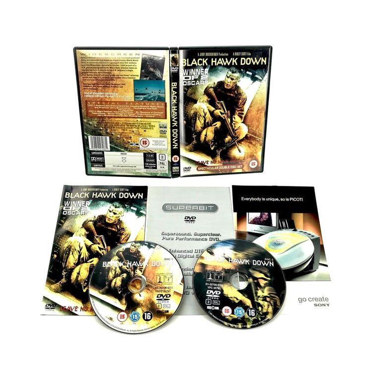 Black Hawk Down DVD 2002 2 Disc Set action double oscar winner army elite delta