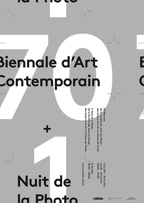 Type on the edge of poster seems to flow => move => change // supero - swiss design studio.