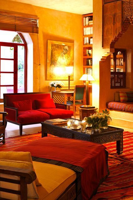 Typical Traditional Living Room Of Tamil Nadu