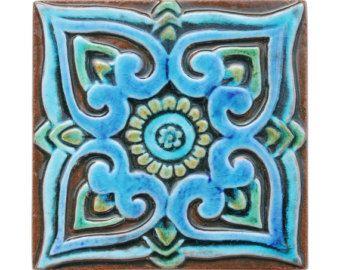 Handgemaakte tegels met mandala ontwerp / / keramische door GVEGA