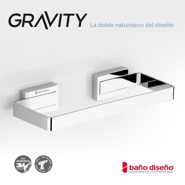 Toallero de la nueva #colección de Baño Diseño, Gravity. Una gama de accesorios de #baño inspirado en el concepto de gravedad que está formada por un #diseño donde las formas curvas confunden con las rectas