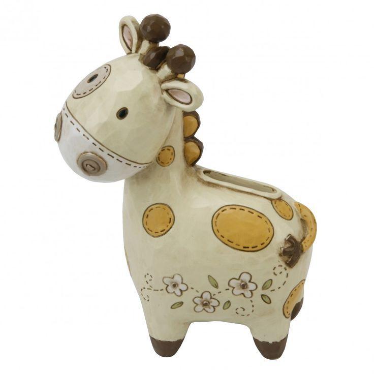 Juliana Resin Giraffe /& Train Money Bank Moneybox Christening Gift //New Baby