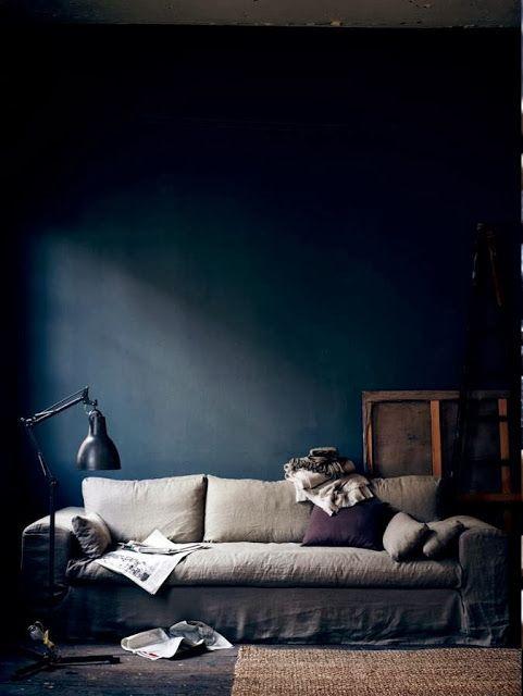 Mur bleu nuit Pinterest Nat et nature