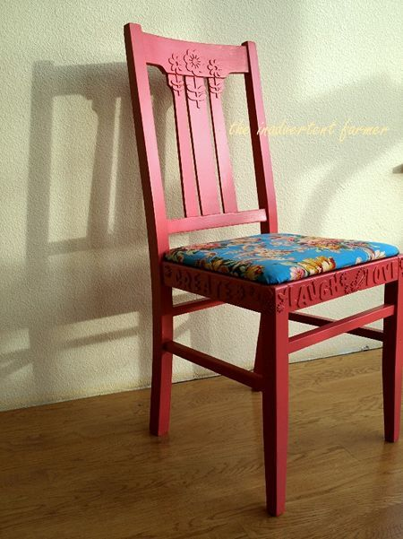 ^Foam sticker chair remodel. Could also use for picture frames, cupboard doors, wardrobe, etc etc!
