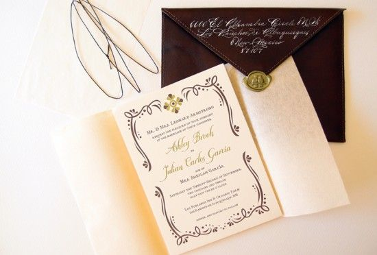 Ashley + Julian's Rustic Mexican-Inspired Wedding Invitation | Design and Photo Credit: Lizzy B Loves | Letterpress Printing: Crane & Co. via Pennysmith's Paper | Calligraphy: Bill Kemp Calligraphy | Wax Seal: Nostalgic Impressions