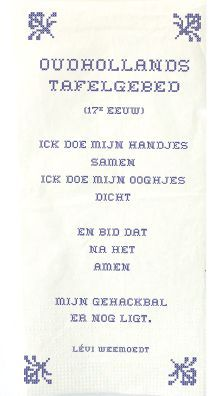 Oud Hollands Tafelgebed