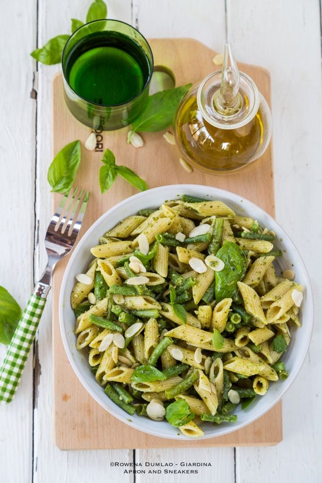 Apron and Sneakers - Cooking & Traveling in Italy and Beyond: Pasta with Green Beans and Pesto