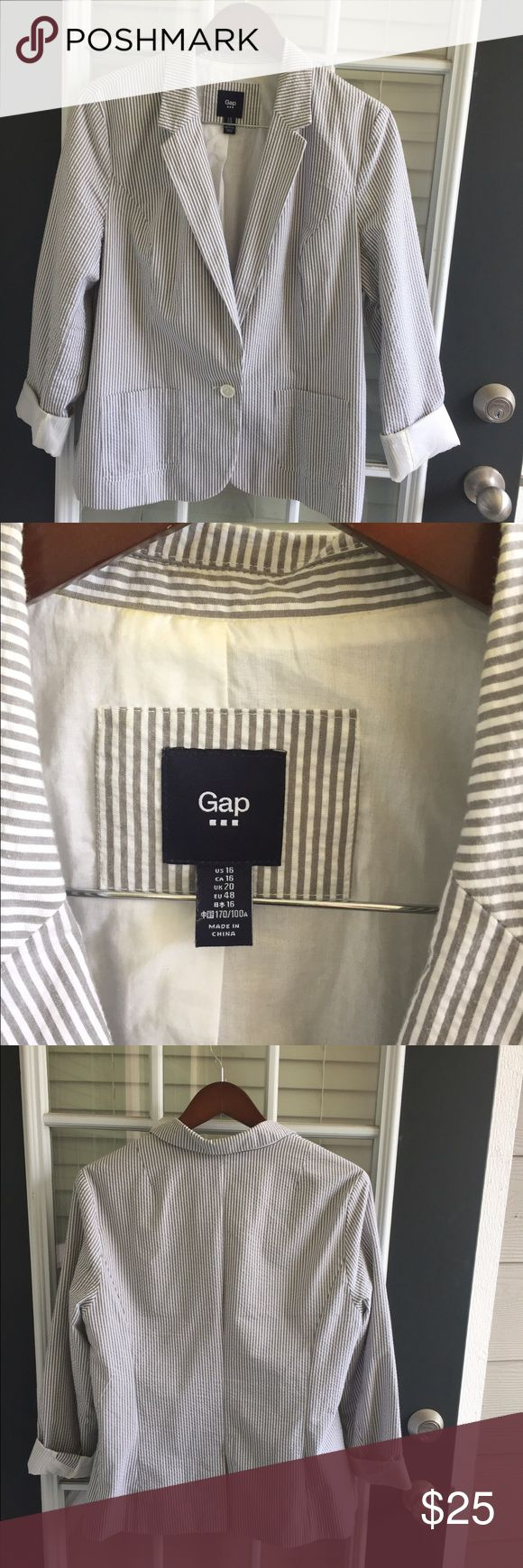 Gap Jacket. Quickly perk up an outfit with this adorable striped jacket. GAP Jackets & Coats Blazers