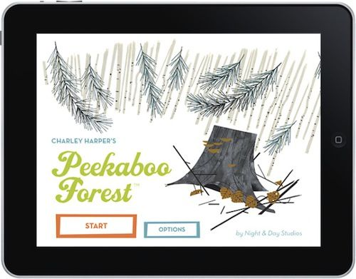 Children's App Reviews on @Design Mom. Featuring Charley Harper's Peekaboo Forest.
