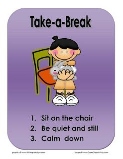 reflections of an early childhood teacher: Take-A-Break~ Free Printable Cue Sheet