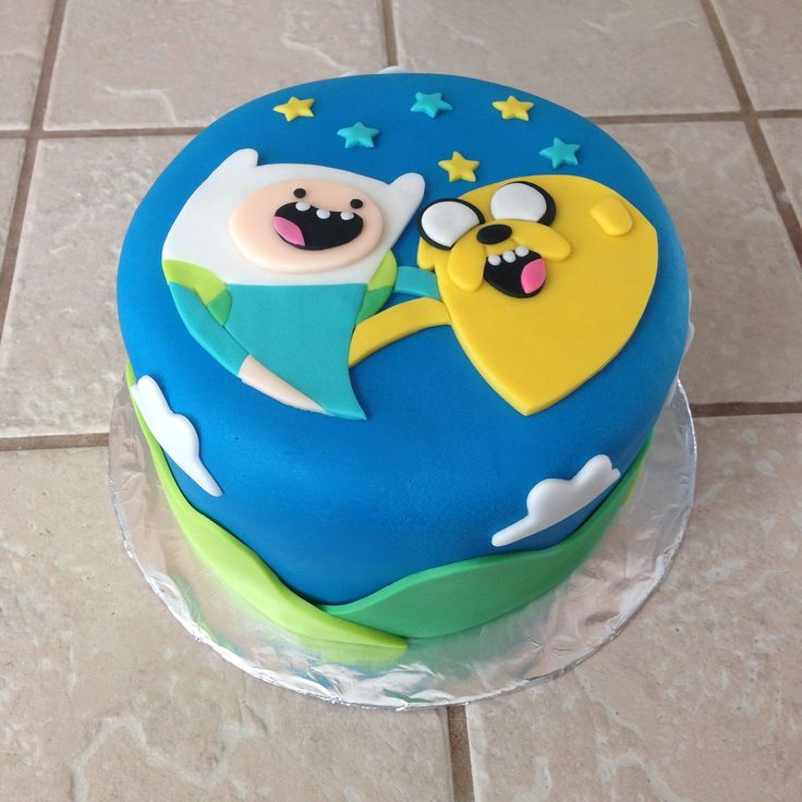 Adventure Time Cake In Fondant By Amber's Little Cupcakery