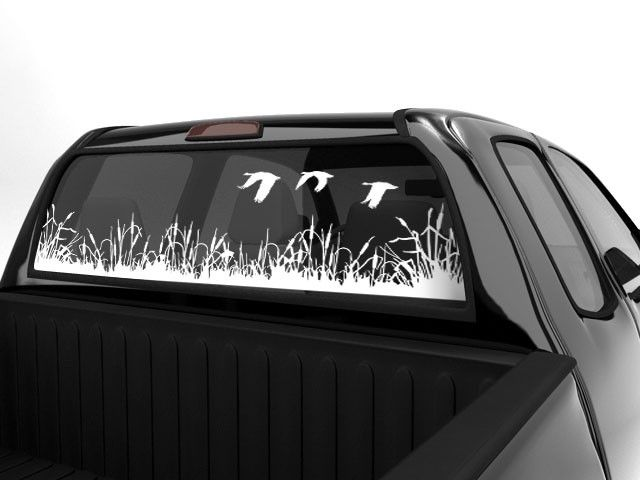 Geese scenery sticker for rear window · truck stickersvinyl giftsrear
