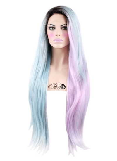 """Heat safe synthetic Lace Front wig 24"""" long 150-180% density Made of soft synthetic fiber Can be styled with hot tools on a low-medium temperature ..."""
