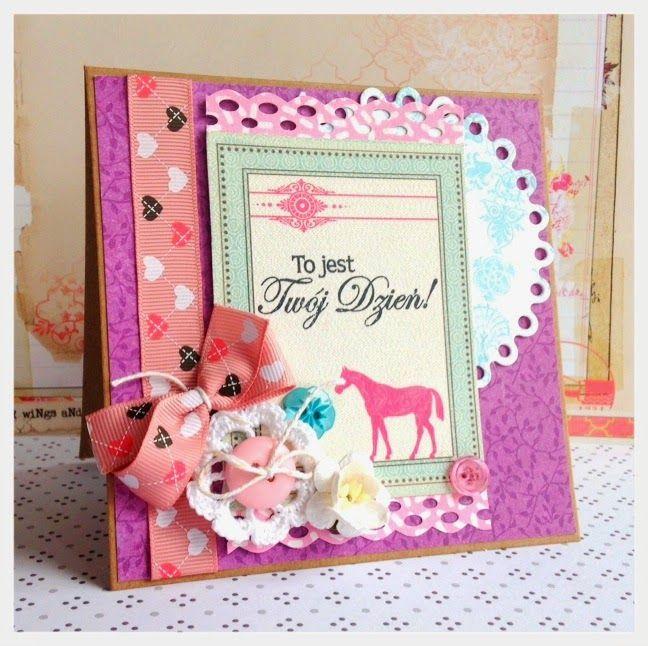 kartka dla dziewczyny scrapbooking cards
