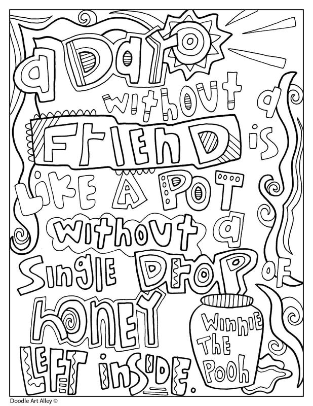 Winnie the Pooh Quote Coloring Pages at Doodle Art Alley ...