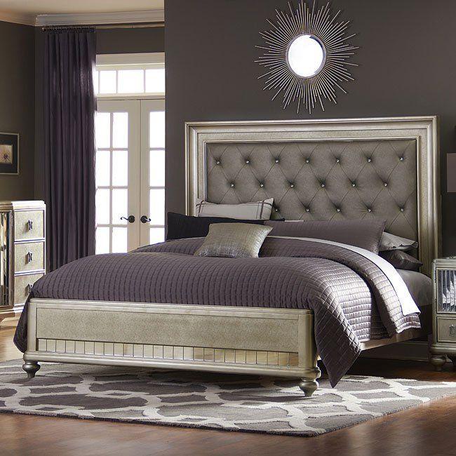 Platinum Panel Bed Bedroom Sets Luxurious Bedrooms Bedroom Trends