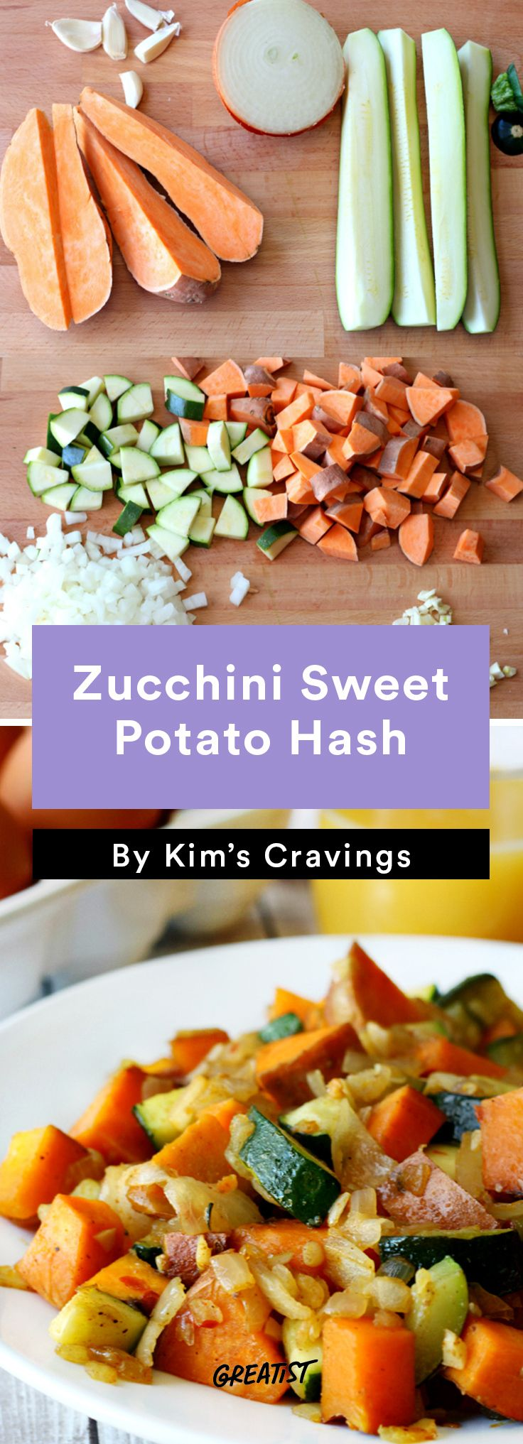 6. Zucchini Sweet Potato Hash #healthy #sweetpotato #hash #recipes http://greatist.com/eat/sweet-potato-hash-recipes-for-breakfast-or-dinner