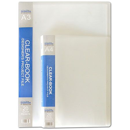 portfoliomappen - Seawhite Clear-Book - presentatiemap - 20 vaste tassen - A3 - Schleiper - e-shop express