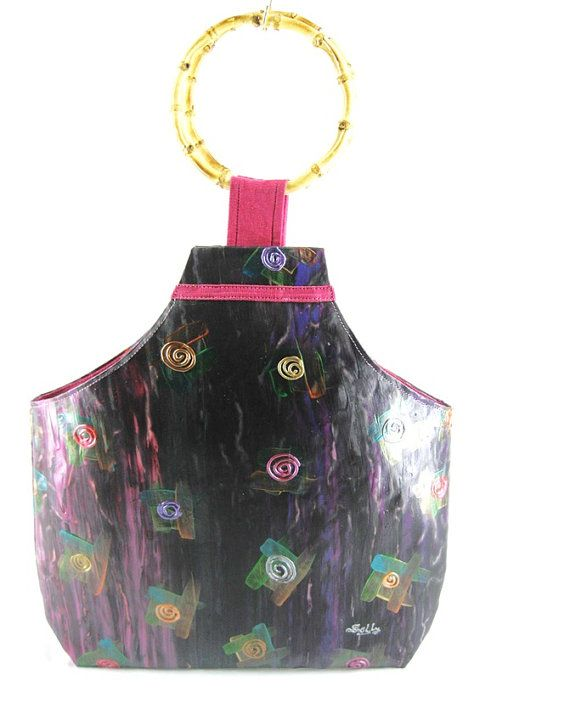Purple Magic: Designer Handcrafted Hand Painted Woman's Fashion by ArachneStyle, $110.00