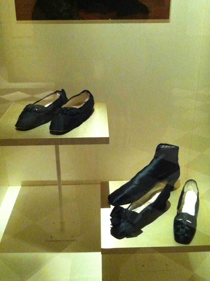 """Victorian Mourning Shoes From the Bata Shoe Museum's """"Fashion Victims: The Pleasures and Perils of Dress in the 19th Century"""" exhibit."""