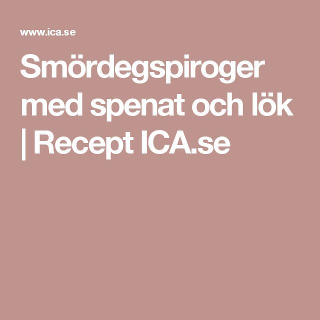 Smördegspiroger med spenat och lök | Recept ICA.se