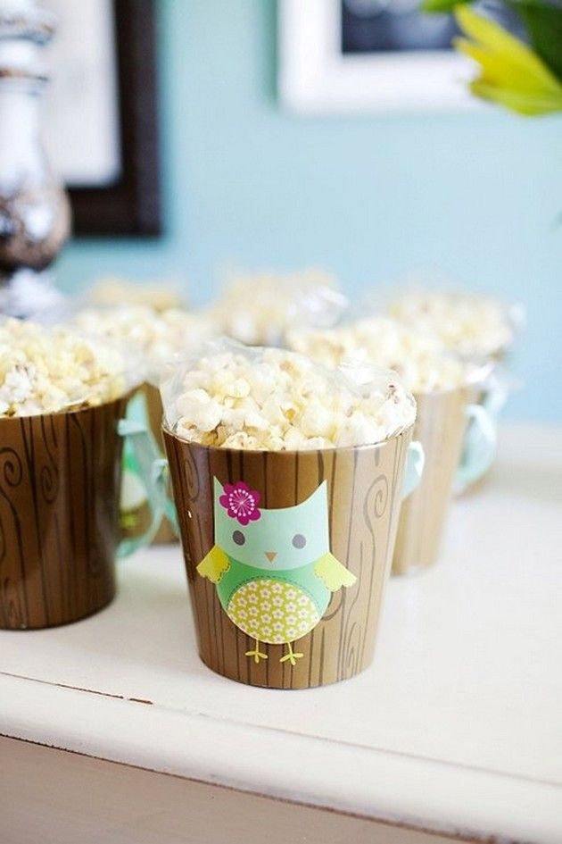 party favors for kids birthdays - I like the popcorn and notepad ideas