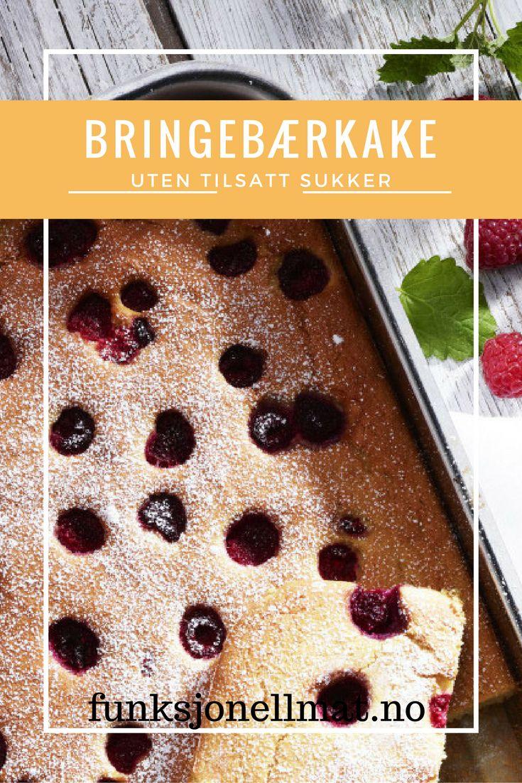 Bringebærkake - Funksjonell Mat | Oppskrift kake | Sunne kaker | Sukkerfri kake | Sukrin | Enkel dessert | Nyttig mat | Sunne oppskrifter