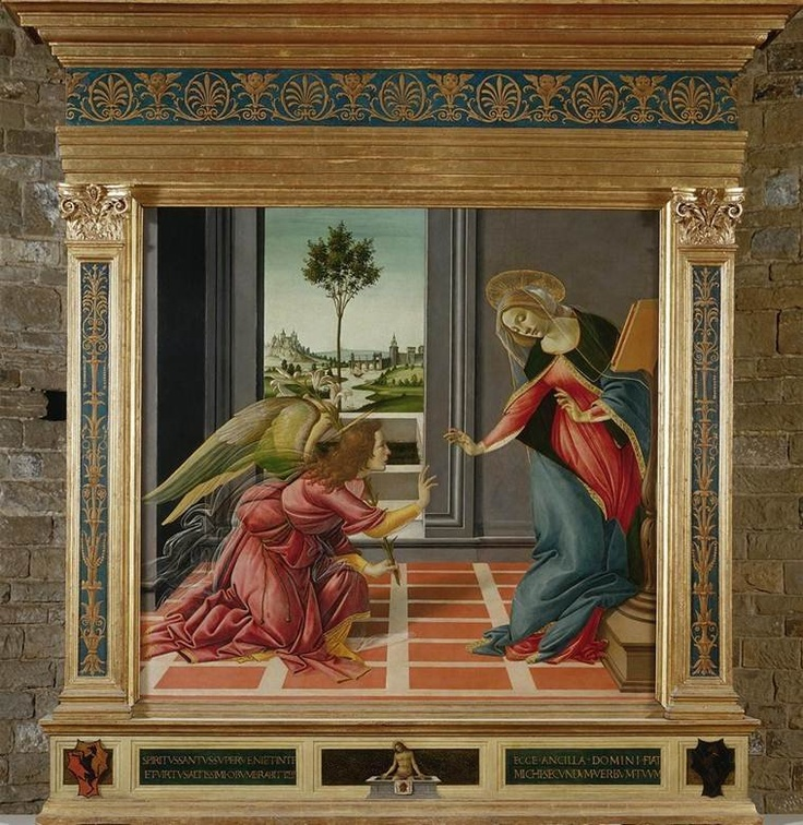 Explore this interactive image: Botticelli, Annunciation by Sharon