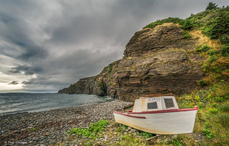 https://flic.kr/p/oNx7hw | Hauled Up | Small craft hauled out on the beach on the Front, Bell Island, Newfoundland, Canada